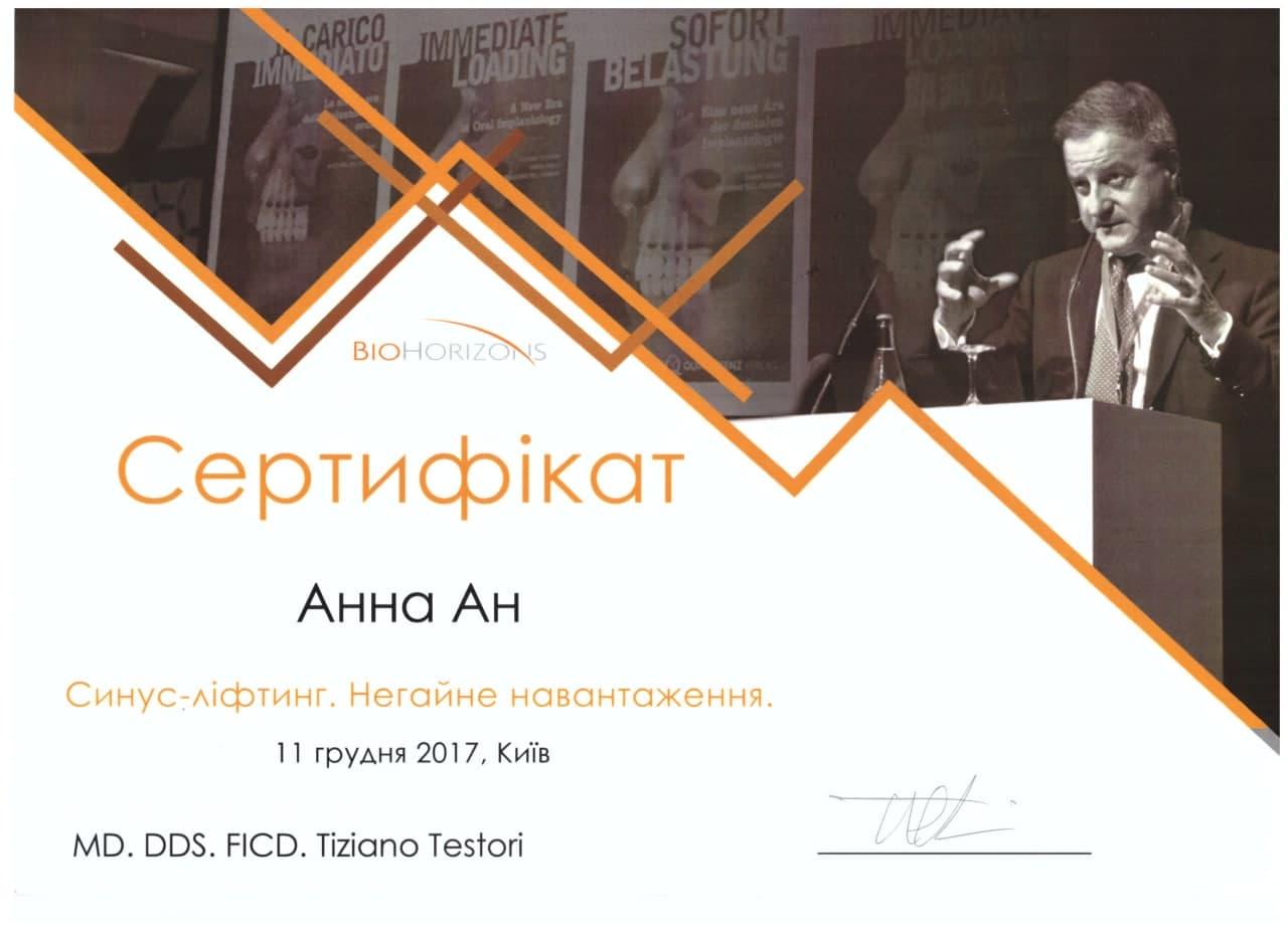 Сертификат Анн Анна - фото 3